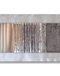 Echo Oak Grey - Silver Wall Art, Contemporary Art UK