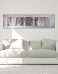 Echo Oak Grey - Silver Wall Art, Contemporary Art UK