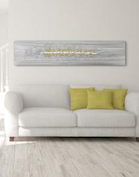 A Dash of Yellow - Silver Wall Art, Contemporary Art UK