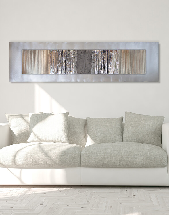 silver wall art silver