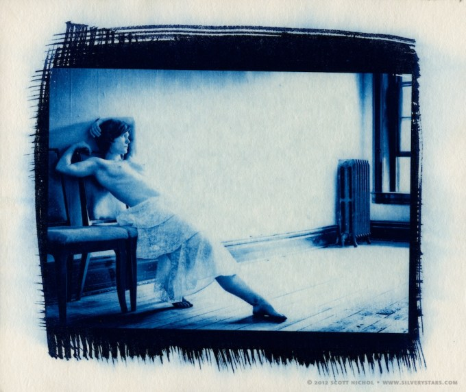 Bank Room Cyanotype - Artist's Proof
