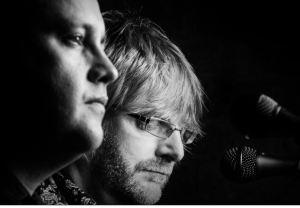 Monochrome Image: Tim Chu and Ian Bailey in concert