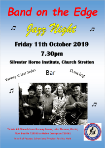 Jazz Night poster for friday 11th october 2019