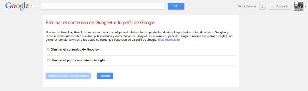 Al eliminar Google plus debemos ser cuidadosos para no borrar toda nuestra cuenta de Google.