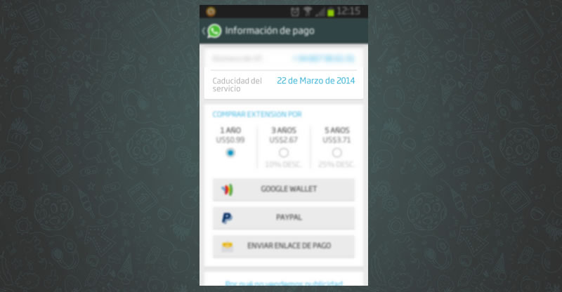 Fecha de caducidad de WhatsApp: 22 de Marzo