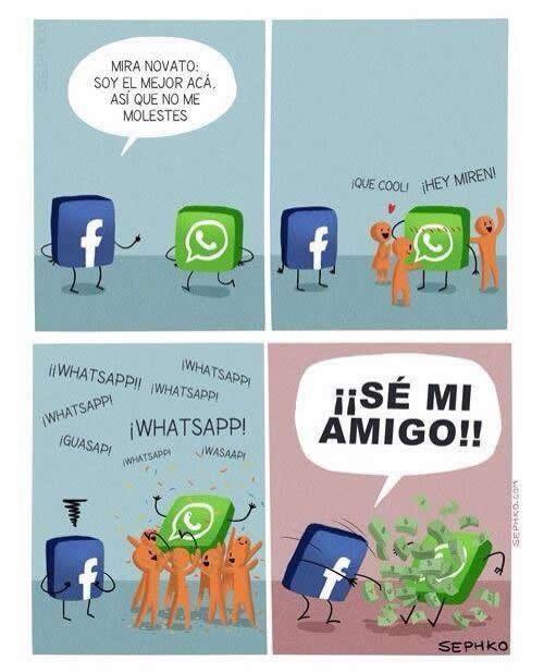 Humor gráfico - Facebook Vs Whatsapp