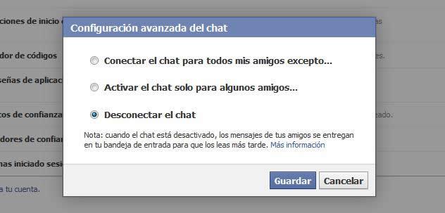 Solucion problemas Chat Facebook
