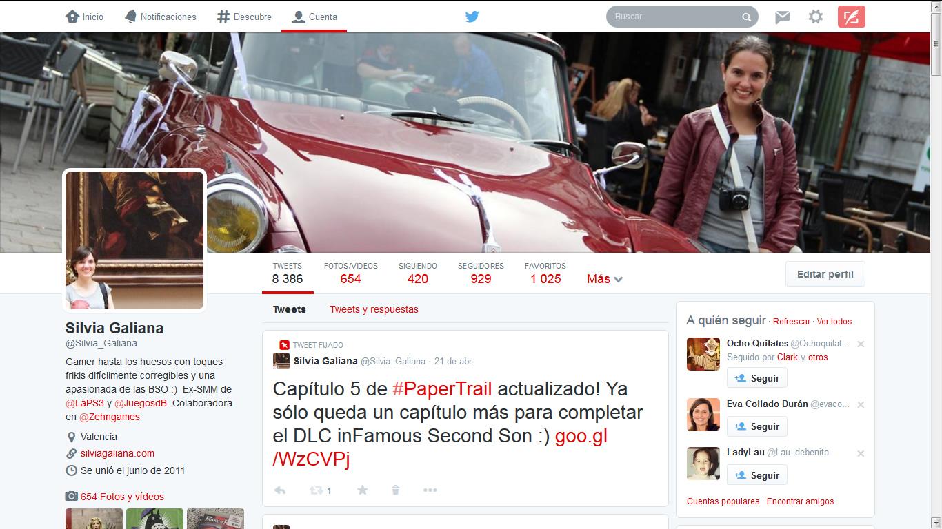 Aspecto del nuevo diseño de Twitter