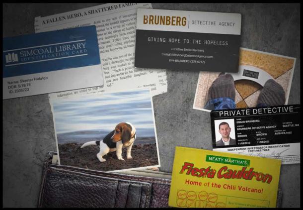 Objetos encontrados en la cartera de la víctima