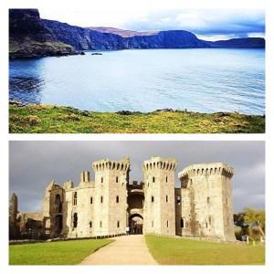 gran bretagna castello di reglan galles scogliere di waterstein head isola di skye scozia