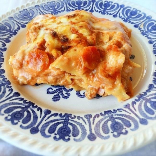lasagne salsiccia fresca e formaggio di pecora