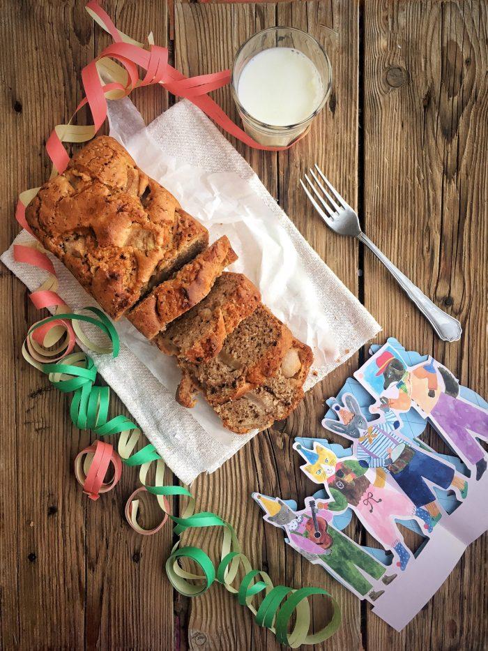 Plumcake alle pere e cioccolato: così saluto il carnevale.