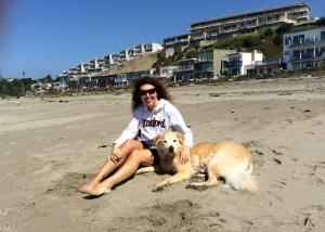 Chiqui y yo en la arena copy
