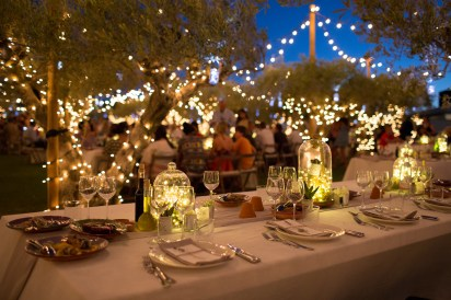 Silvio Palladino corporate event photographer olive grove dinner fairy lights