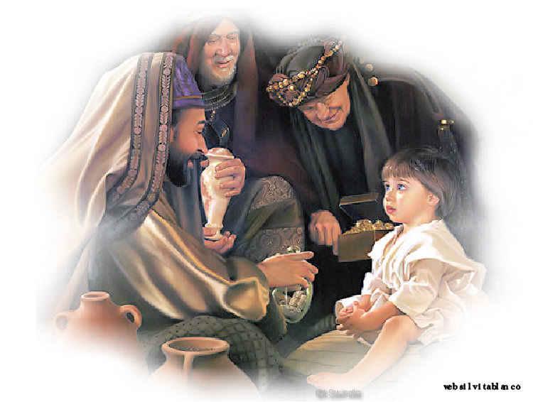 Resultado de imagen para los reyes magos adoran al niño jesus