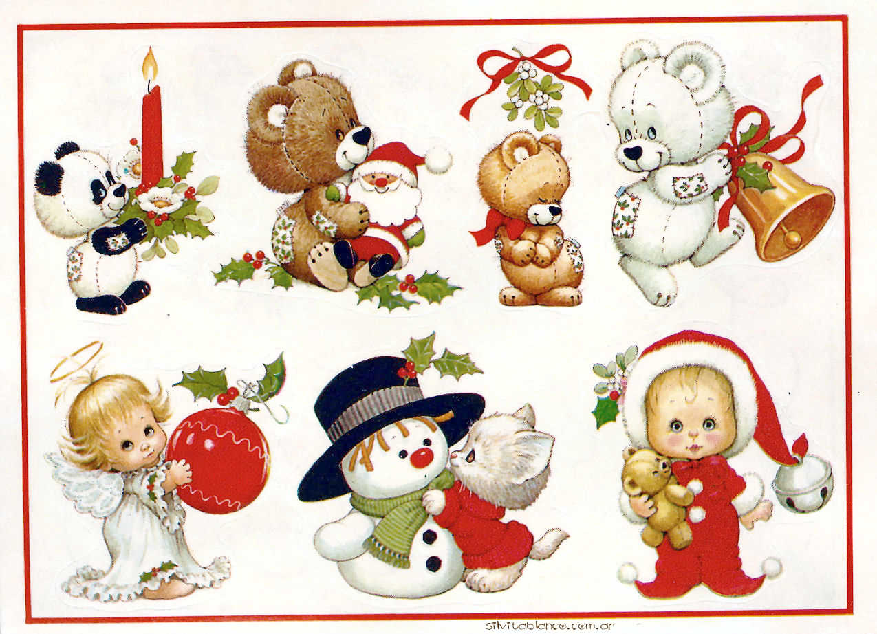 Stickers Libro Navideo Completo Ruth Morehead Vintage