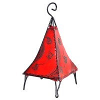 Oriental Moroccan Floor Lamp Leather Lamp Henna Lamp ...