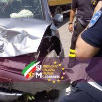 Scontro frontale tra due auto: coinvolto segretario provinciale del SIM Carabinieri