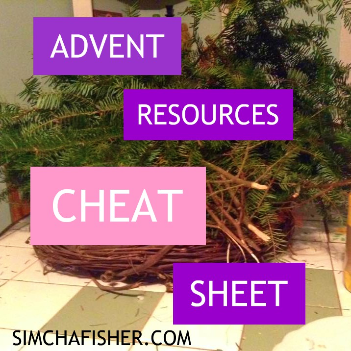 Advent resources cheat sheet!