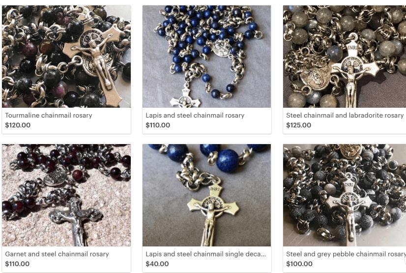 Steel and lapis rosary winner!