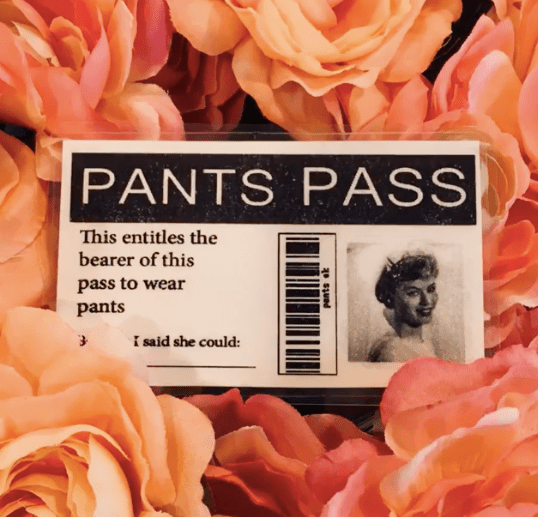 TOPIC CHANGE: Remember the Pants Pass?