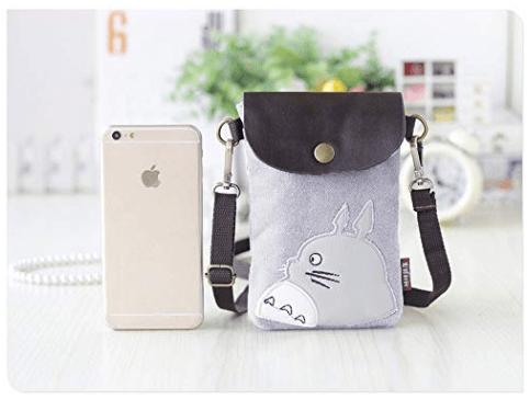 3229e758ebf0 Totoro crossbody coin phone purse
