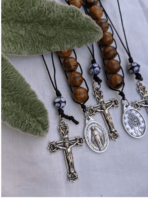 Elastic Rubber with Bright Colors Rosaries Set of Three Children 3