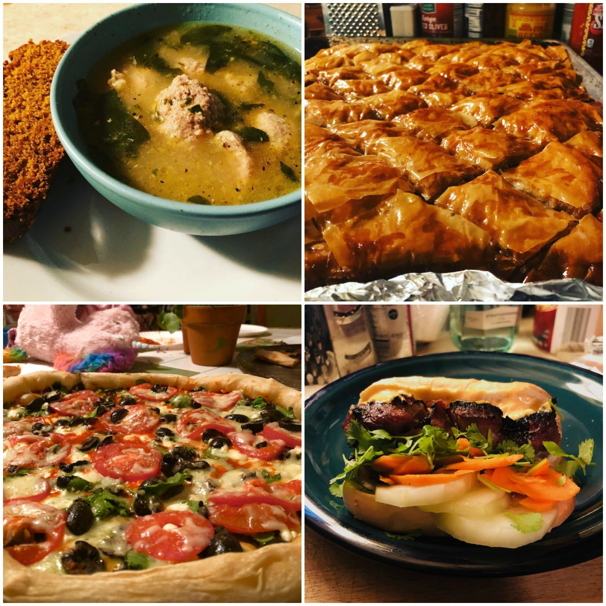What's for supper? Vol. 193: Baklava! Shawarma! Rice pilaf! Banh mi! Italian wedding soup! Pumpkin bread! AND MORE!