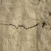 The cracks in the wall of the church