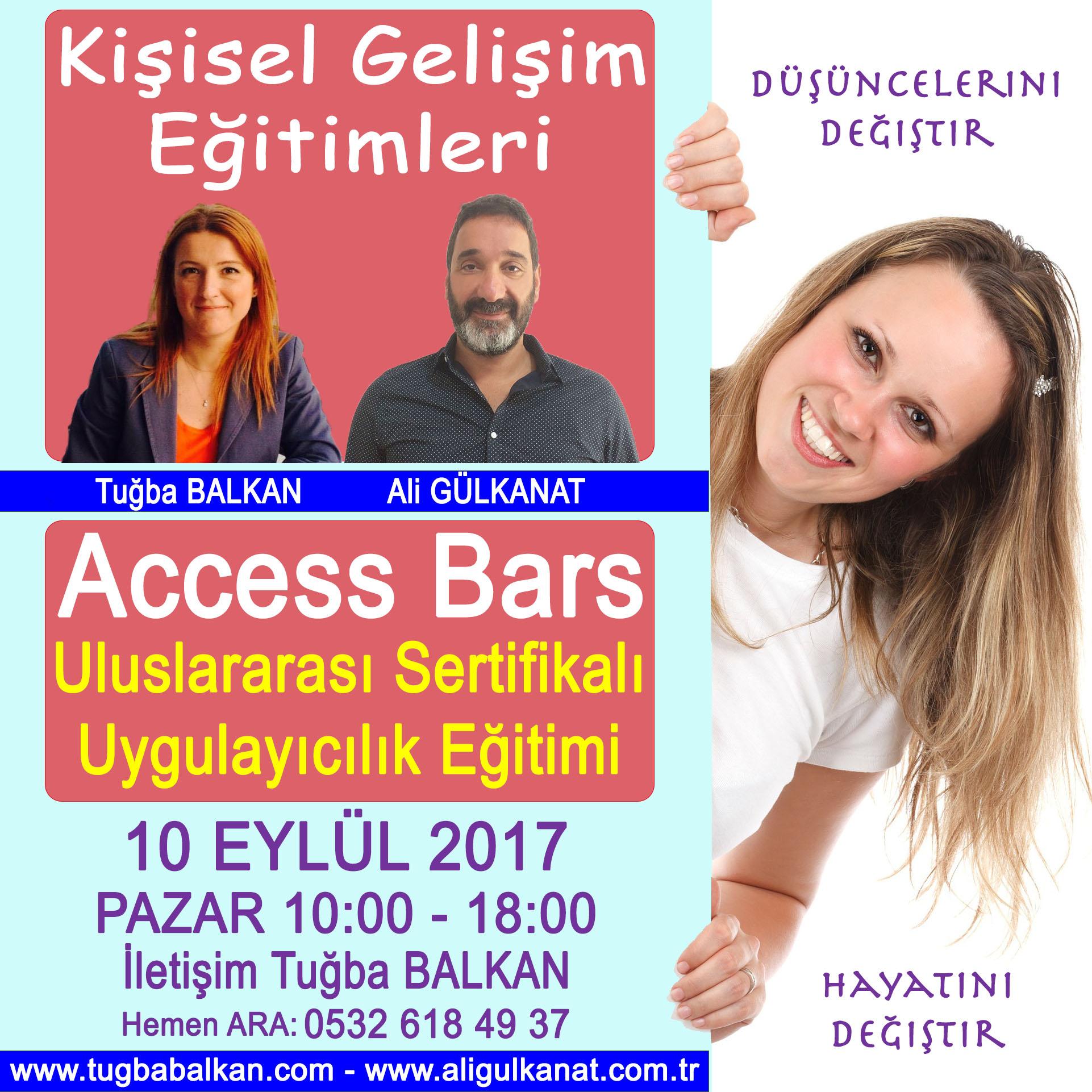 ACCESS BARS Uygulayıcılık Eğitimi – 10 Eylül 2017 – İSTANBUL