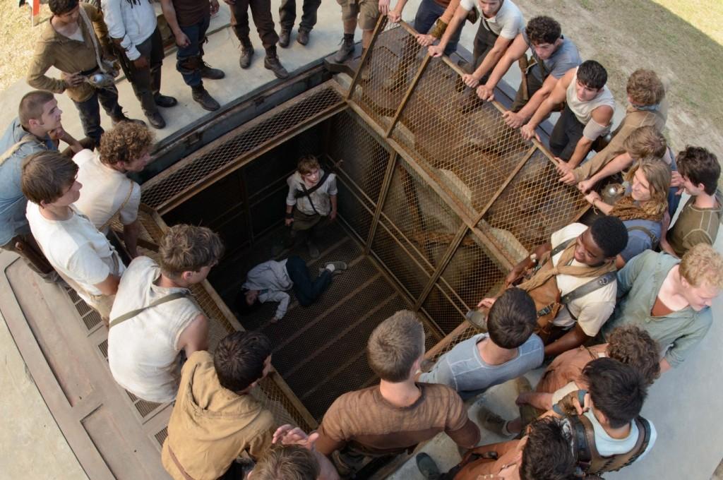 Thomas im Fahrstuhl