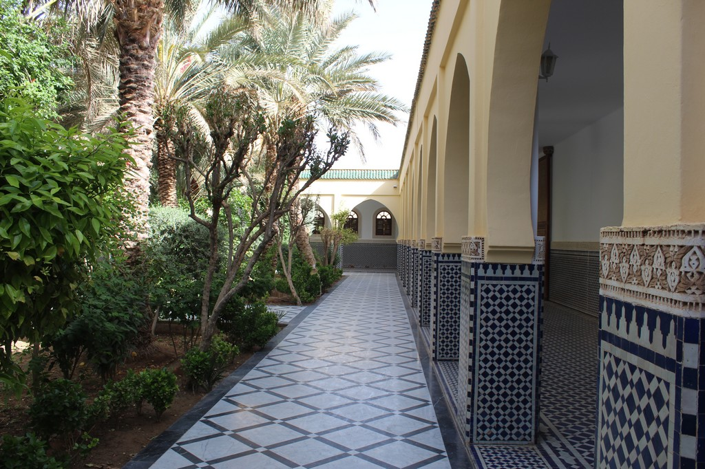 Jardines del mausoleo de Moulay Ali Cherif en Rissani