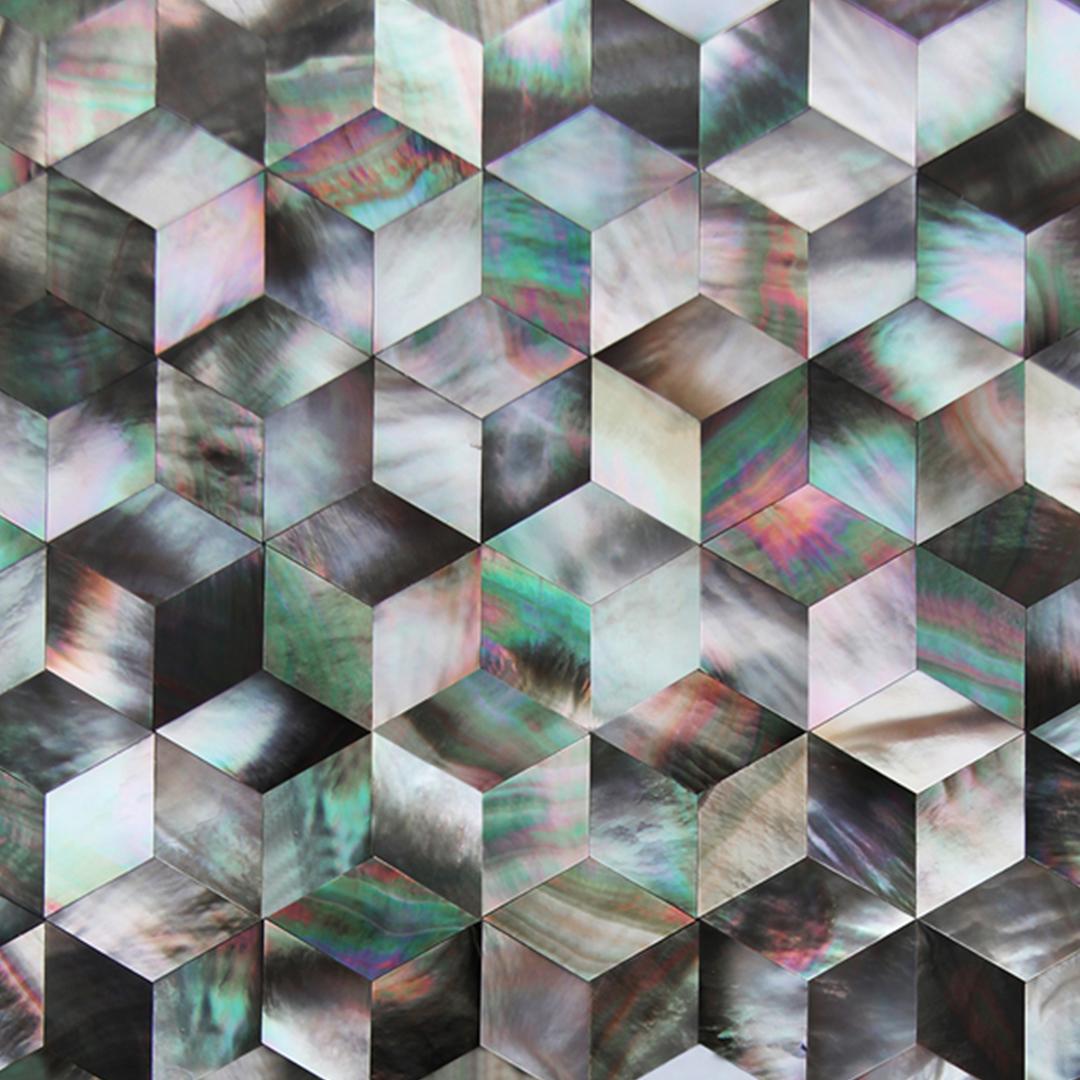 Siminetti 3D Midnight Cube Decorative Panel