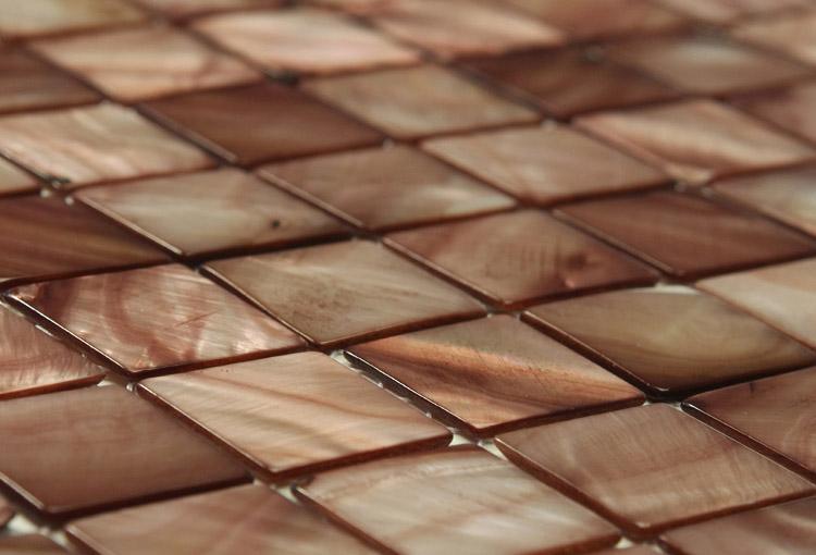 Antique Brass Brown Mosaic Tiles