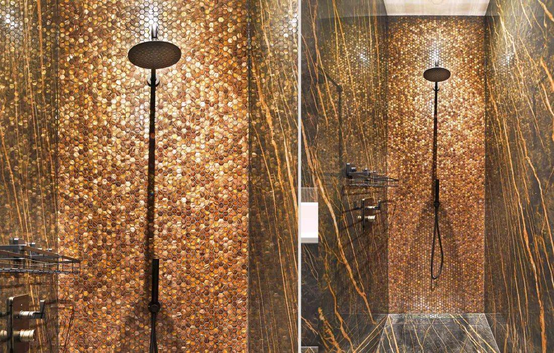 Gentle Earth Hexagons in Shower