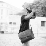 {Trey USA San Antonio walk – cowboy and a camera bag}