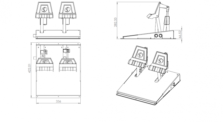 Rudder Pedals with Proportional Brake System
