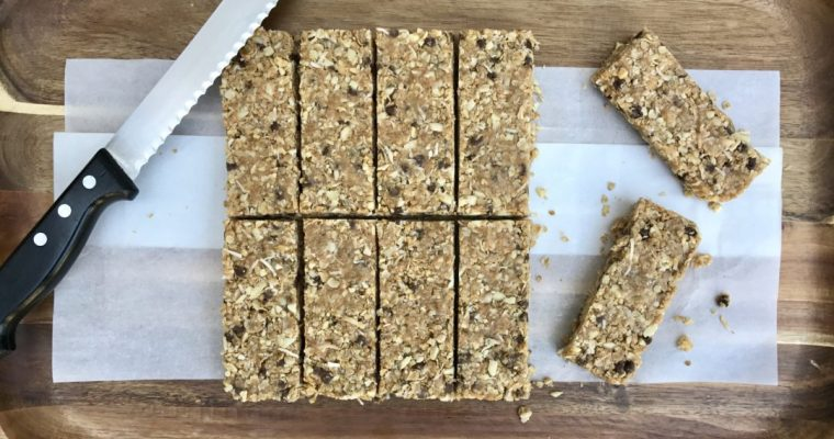 Coconut Chocolate Chip Granola Bars For The Start Of School