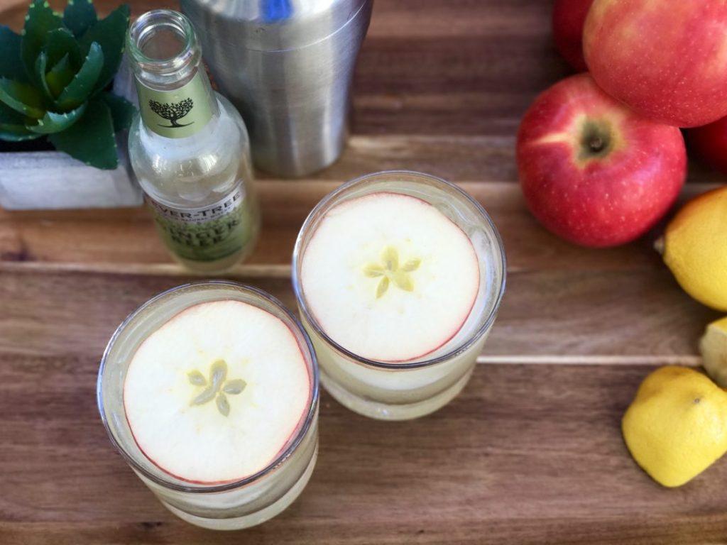 apple gin fizz