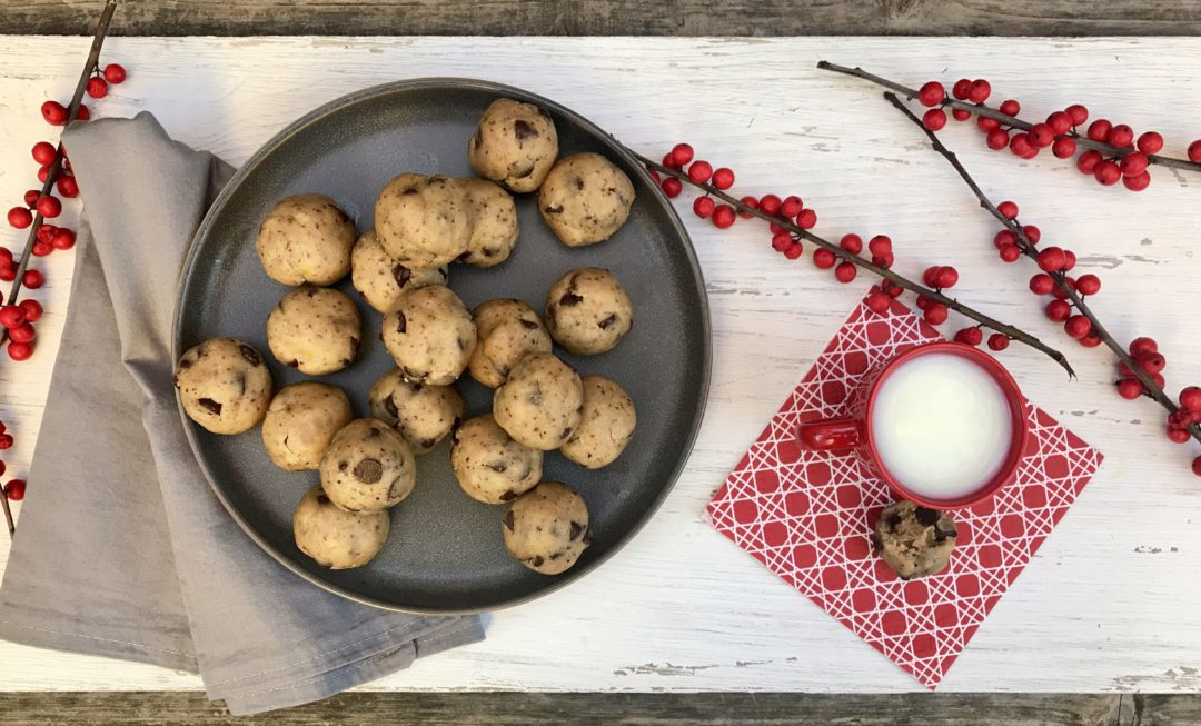 Chocolate Chip Cookie Dough Bites That Are Eggless