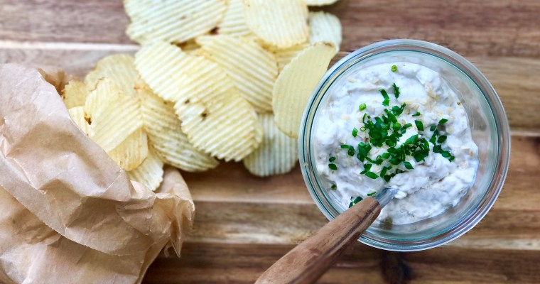 Homemade French Onion Dip With Caramelized Onions