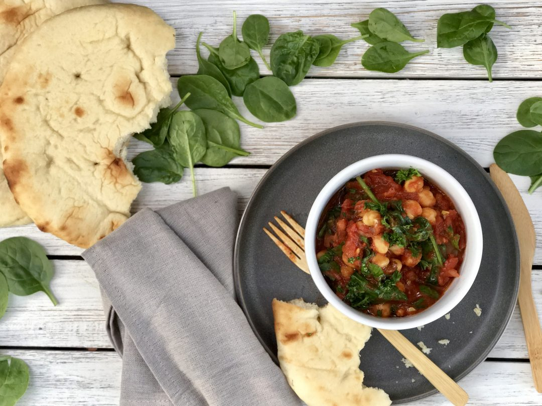 Moroccan Stewed Chickpeas With Spinach Makes The Perfect Winter Meal