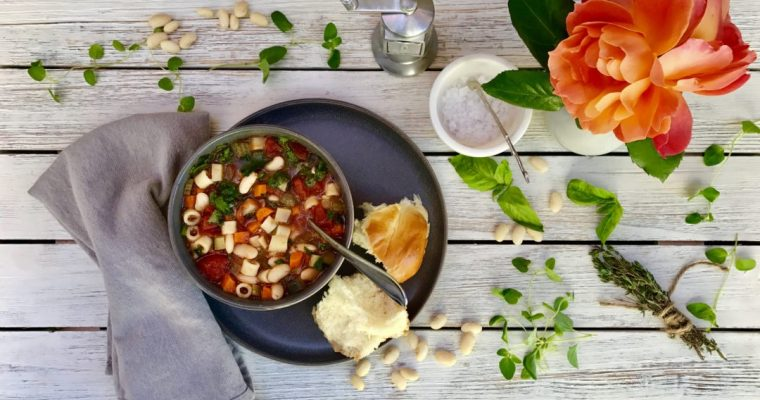 Vegetarian Minestrone Soup That's Worth The Prep Work