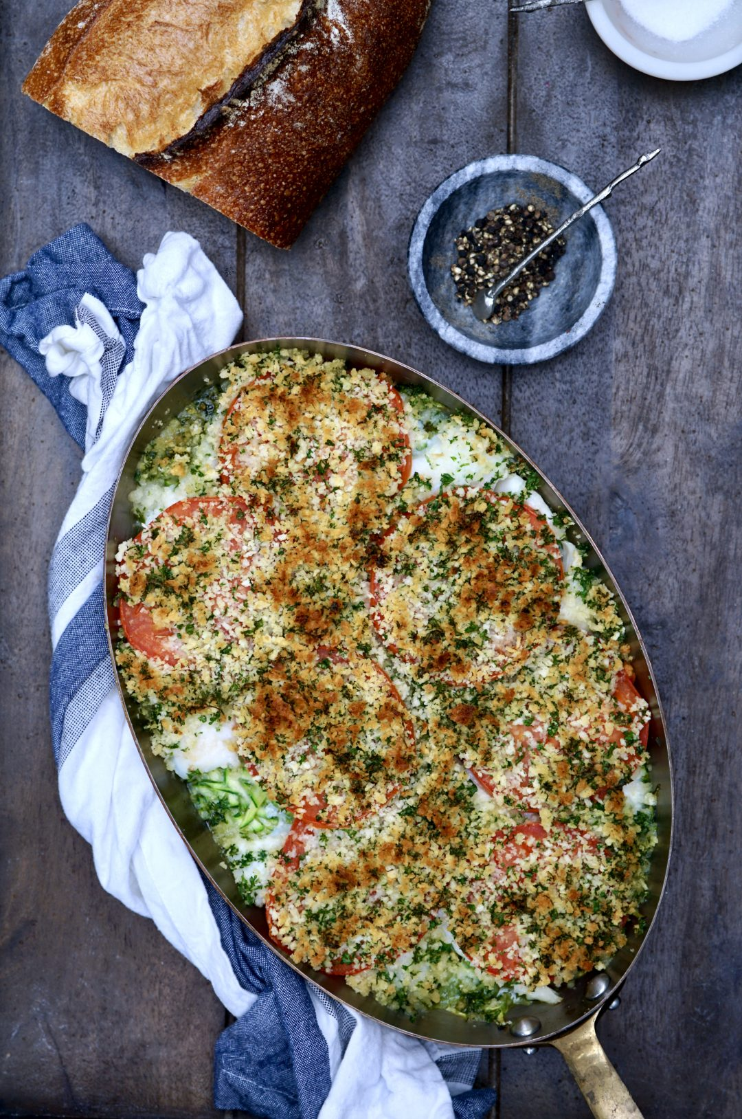 Gratin of Haddock With Zucchini And Tomato