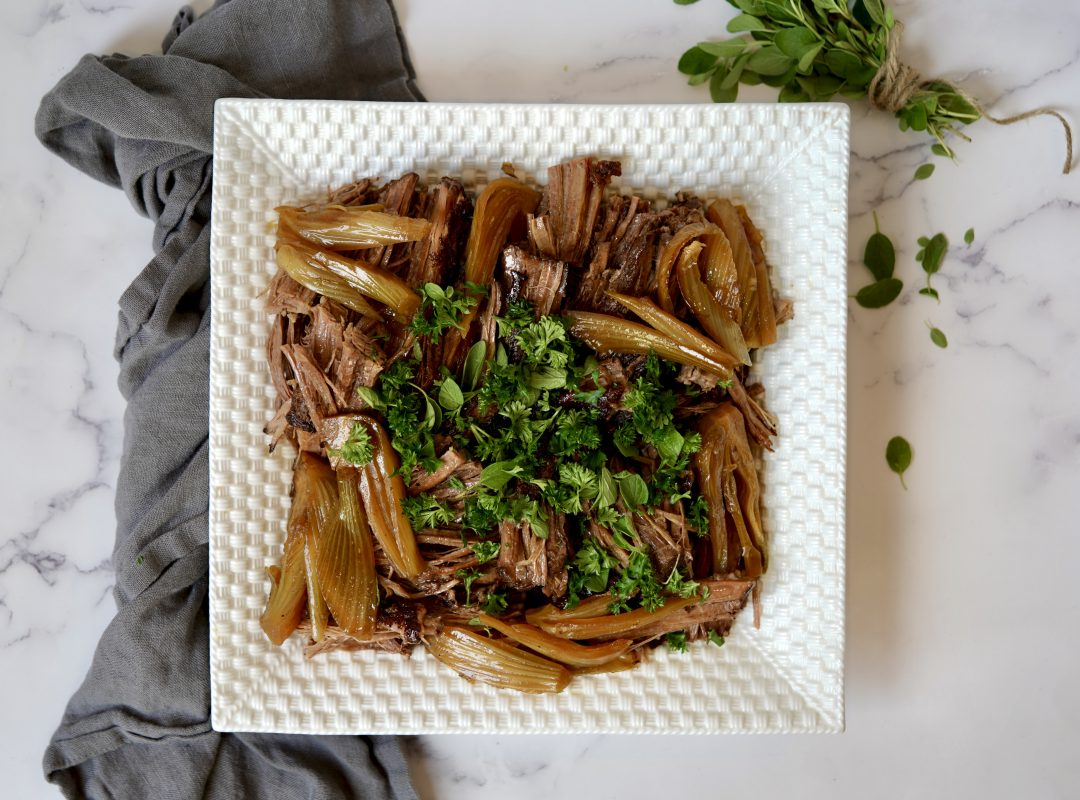 Braised Brisket With Fennel and Shallots