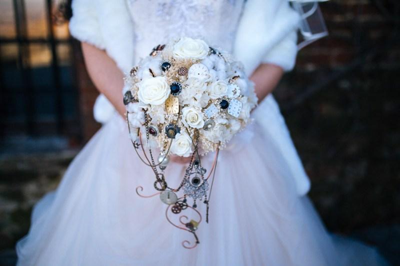 bouquet stempunk ingranaggi orologi