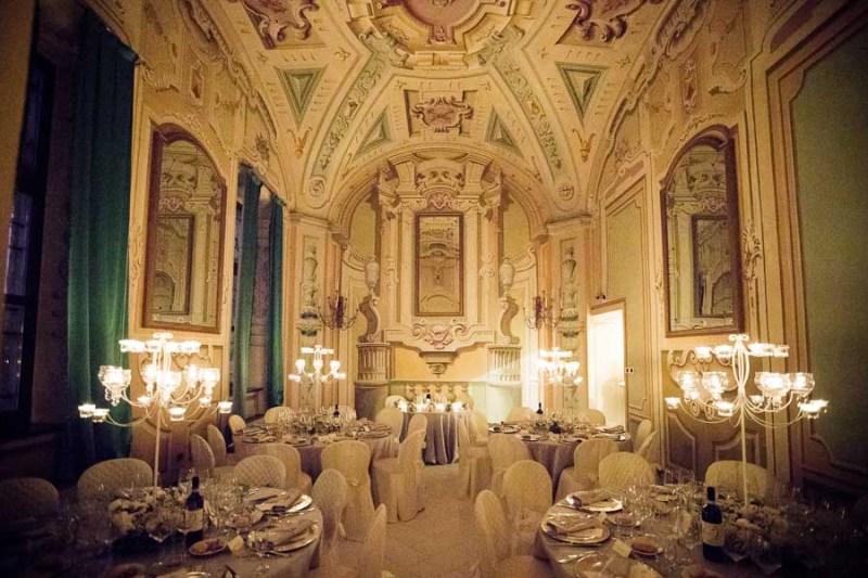 Centrotavola matrimonio candelabro villa luigina