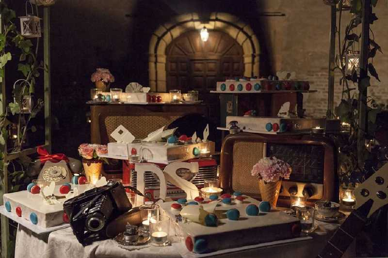 vintage wedding cake al castello di osasco