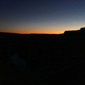 Twilight descends upon the Vermillion Cliffs of northern Arizona.