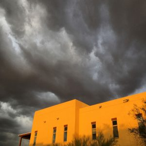 Summer storm over the Civano neighborhood center.